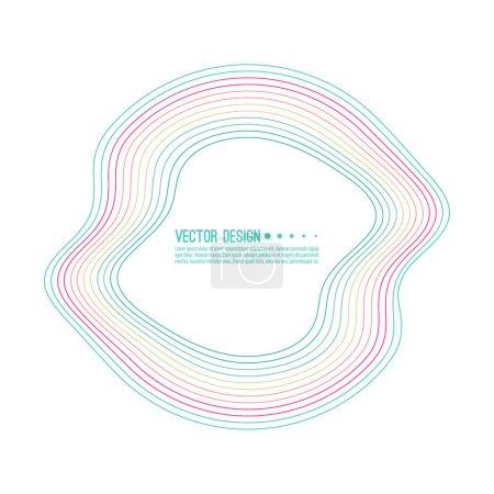 Ilustración de Vector de banner redondo colores deformado. El cuadro de texto con un contorno distorsionado - Imagen libre de derechos