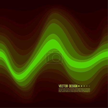 Ilustración de Textura colorida de una onda distorsionada. Resumen superficie ondulada dinámica. Fondo de deformación de la raya de vector. Transición y gradación de color - Imagen libre de derechos