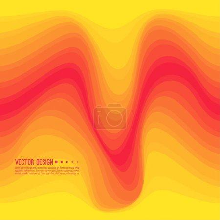 Ilustración de Textura colorida de una onda distorsionada. Resumen superficie ondulada dinámica. Fondo de deformación de la raya de vector. Transición y gradación de color. - Imagen libre de derechos
