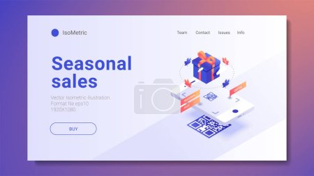 Can use for web banner, infographics, hero images. Flat isometric vector illustration isolated on colorful and white background.