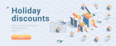 vector discount coupon banner