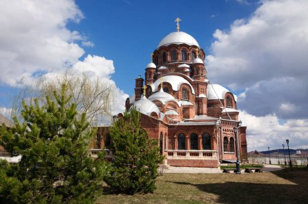 The Cathedral of our lady of All sorrows Joy is the largest Church in Sviyazhsk.