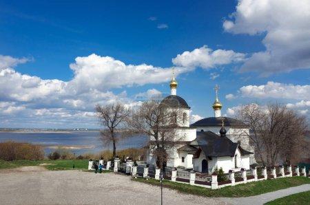 Church of Saints Constantine and Helen on the bank of the river Sviyagi, Sviyazhsk, Russia.