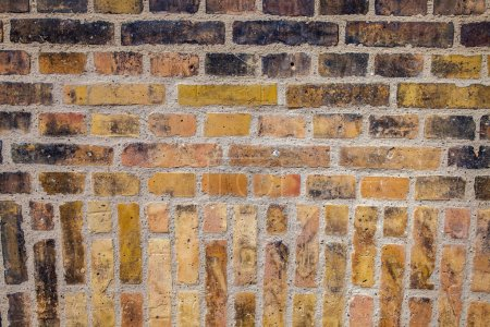 full frame of empty brick wall background