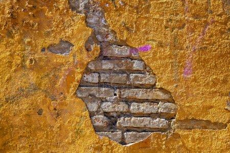 plein cadre de l'ancien bâtiment historique de mur de brique