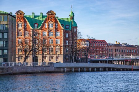 Photo for Cityscape with buildings and river in Copenhagen, Denmark - Royalty Free Image