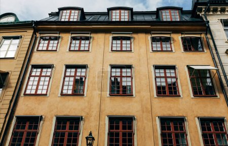 Photo for Low angle view of architecture of Stockholm, Sweden - Royalty Free Image
