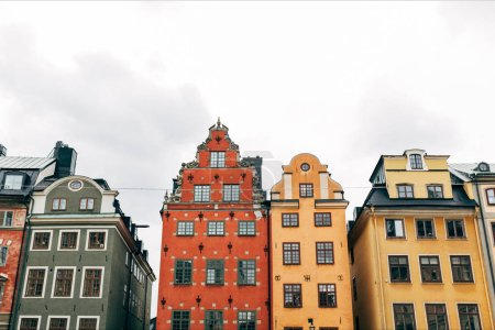 Photo for Urban scene with beautiful colorful buildings in old town of Stockholm, Sweden - Royalty Free Image