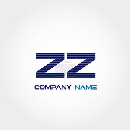 Initial Letter ZZ Logo Template Design