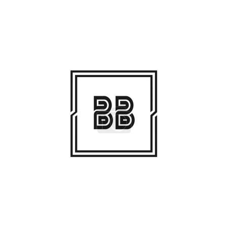 Illustration pour Lettre initiale Modèle de logo BB Design - image libre de droit