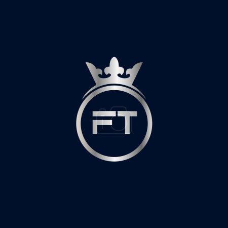 Illustration pour Lettre initiale Modèle de logo FT Design - image libre de droit