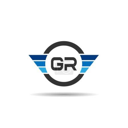 Carta Inicial GR Logo Template Design