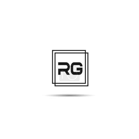 Carta inicial RG Logo Plantilla de diseño