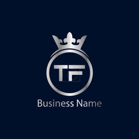 Illustration pour Lettre initiale Modèle de logo TF Design - image libre de droit
