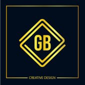 Initial Letter GB Logo Template Design