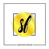Initial Letter SF Logo Template Design Vector Illustration