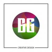 Initial Letter BG Logo Template Design Vector Illustration