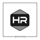 Initial Letter HR Logo template Design Vector Illustration