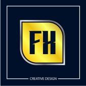 Initial Letter FX Logo Template Design Vector Illustration