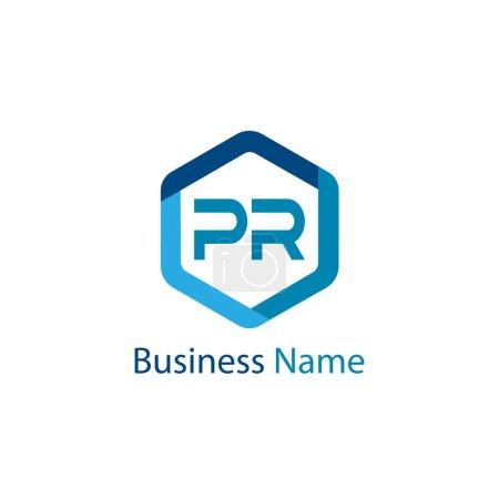 Illustration pour Lettre initiale PR Modèle de logo Design - image libre de droit