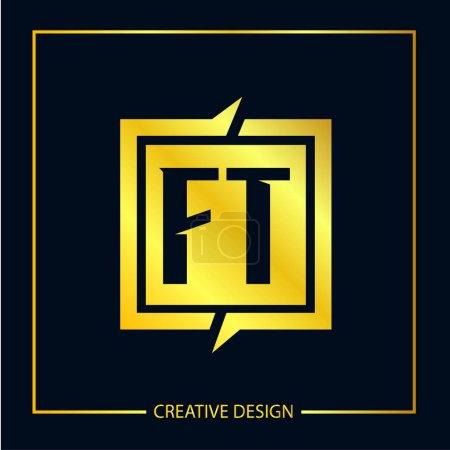 Illustration pour Modèle initial de logo de lettre FT - image libre de droit