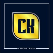 Initial Letter CK Logo Template Design Vector Illustration