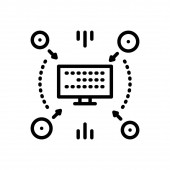 Black line Icon for compiling anthology