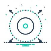 Mix color Icon for delimiter delimit