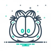 Mix color Icon for garfield cartoon