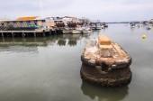 fishing harbor in isla cristina, spain