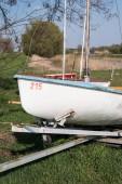 Sailing boat on dry land