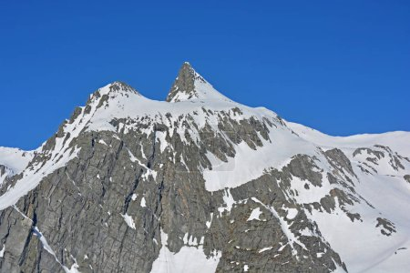 Grand Golliat in Italy as seen from Grand St Bernard Pass on border with Switzerland