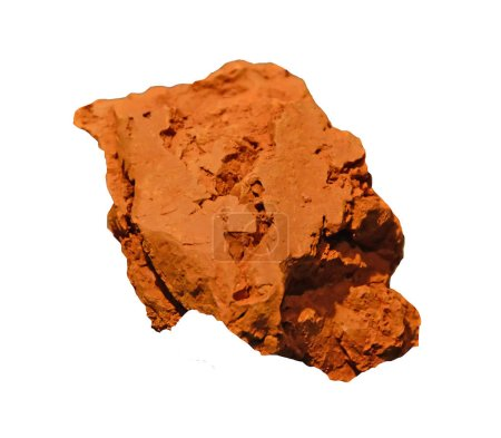 piece of mineral red ocher as used for thousands of years as pigment for painting and make-up