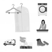 Isolated object of laundry and clean sign Set of laundry and clothes stock symbol for web