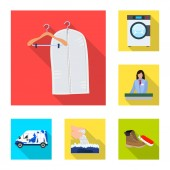 Vector illustration of laundry and clean icon Set of laundry and clothes stock symbol for web