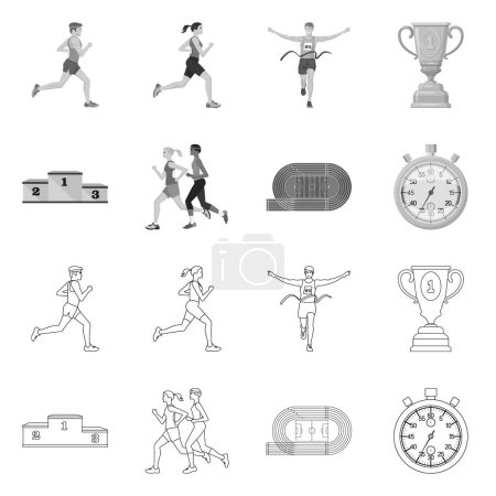 Photo for Vector illustration of sport  and winner icon. Collection of sport  and fitness  stock symbol for web. - Royalty Free Image