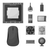 Vector illustration of desktop and technology sign Collection of desktop and device stock vector illustration