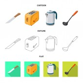 Vector illustration of kitchen and cook icon Collection of kitchen and appliance stock symbol for web