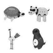Isolated object of toy and science symbol Collection of toy and toy stock symbol for web