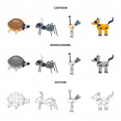Vector illustration of toy and science icon Collection of toy and toy stock vector illustration
