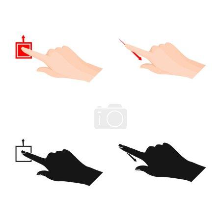 Photo pour Objet isolé de l'icône de l'écran tactile et de la main. La valeur de l'écran tactile et toucher illustration vectorielle stock. - image libre de droit