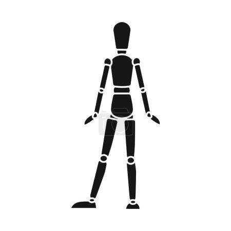 Illustration pour Illustration vectorielle du logo mannequin et masculin. Élément Web d'icône vectorielle factice et sur mesure pour le stock . - image libre de droit