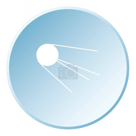 Illustrated Icon Isolated on a Background - Sputnik