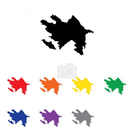 Photo for A Country Shape Illustration of Azerbaijan - Royalty Free Image