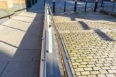 Example of anti-skateboarding architecture in London. Decorative Anti-Skateboarding Guards.