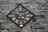 Castletown, Isle of Man, June 15, 2019. Castle Rushen clock is a notable landmark in Castletown, having been presented by Queen Elizabeth I of England in 1597
