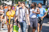 London, UK ,August 25, 2019.Caribbean colour comes to west London as Notting Hill Carnival gets into full swing with hundreds of thousands joining the throng on the capitals streets