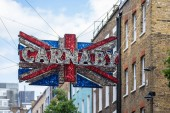 London, UK, July 14, 2019. Carnaby Street is a pedestrianised shopping street in Soho in the City of Westminster, Central London