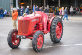 OLD WARDEN, BEDFORDSHIRE, UK ,OCTOBER 6, 2019..A classic David Brown tractor. Race Day at Shuttleworth.