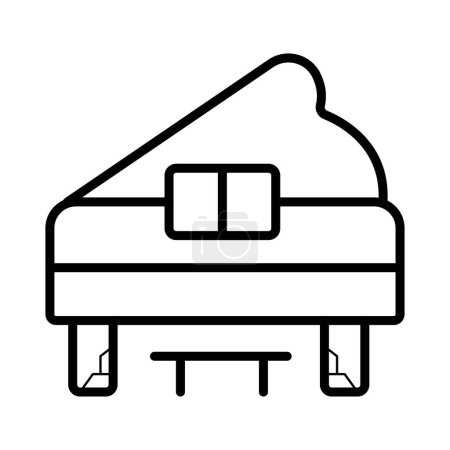 Grand piano vector line icon isolated on white background. Grand piano line icon for infographic, website or app. Icon designed on a grid system